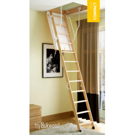 Розкладні сходи на горище Bukwood Compact Standard 120х80 см