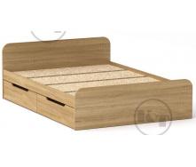 Ліжко з ящиками Віола 140х200 дуб Сонома Компаніт