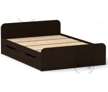 Ліжко з ящиками Віола 140х200 венге Компаніт