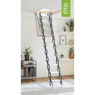 Чердачная лестница Bukwood Steel Clips 90x70
