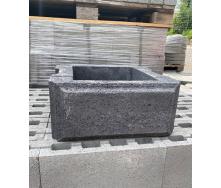 Блок з фаскою гладкий для стовпів забору 430х190х430 32 кг