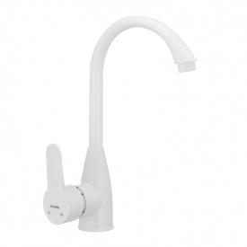 Смеситель для кухни PLAMIX Mario-011(W) белый (без подводки) (PM0014)
