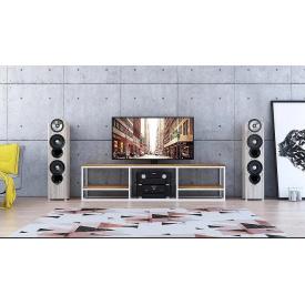Тумба под телевизор GoodsMetall из металла в стиле Лофт 1800х450х400 Т105