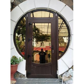 Вхідні двері 5 камер WDS з односторонньою ламінацією 800x2000 мм горіх