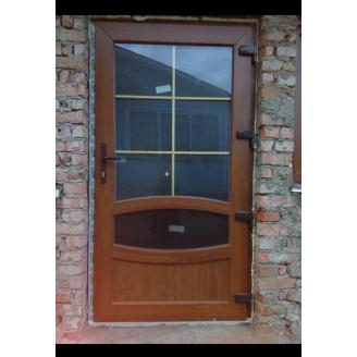 Вхідні двері, дверний профіль WDS Ultra 6 з односторонньою ламінацією 1000x2050 мм дуб золотий