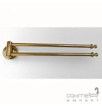 Тримач для рушників поворотний подвійний Pacini & Saccardi Rome 30050/Про золото