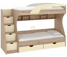 Ліжко двоярусне Кадет МДФ 80х190 Пехотін