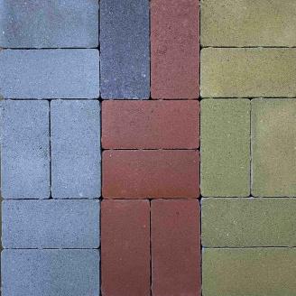 Тротуарна плитка Gartec Цегла без фаски 200х100х60 мм сірий