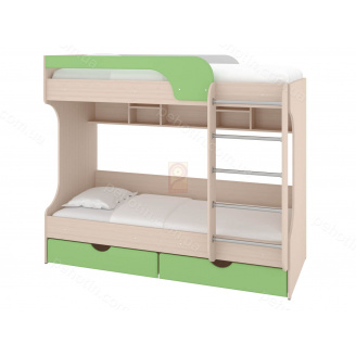 Ліжко двоярусне Юнга МДФ 80х190 Пехотін