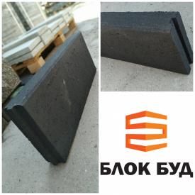 Бордюр екстра чорний 60х200х500 мм