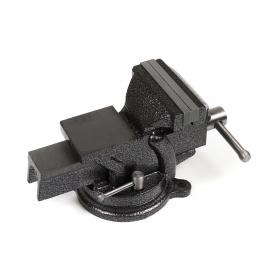 Тиски слесарные Polax настольные поворотные 100 мм (25-099)