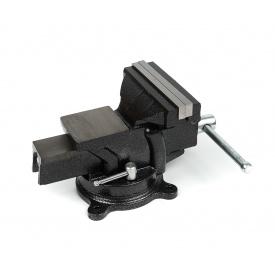 Тиски слесарные Polax настольные поворотные 125 мм (25-100)
