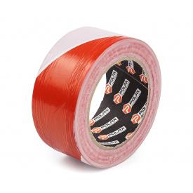 Лента сигнальная оградительная Polax 50 мм х 200 м красно-белая (101-042)