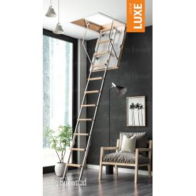 Чердачная лестница Bukwood Luxe Metal Mini 80х90 см