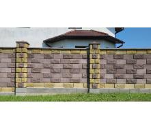 Блок декоративний рваний камінь кутовий 390х190х90х190 мм жовтий
