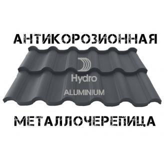 Модульна алюмінієва черепиця Атіка Чорний