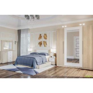 Спальня Лілія Нова Світ меблів дуб саном / білий