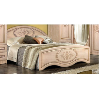 Ліжко 140 без каркаса Василиса високу изножье береза Майстер Форм